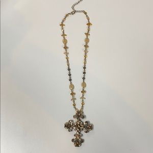 Brown tone cross necklace- came from boutique